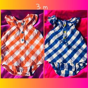 Set of Infant Rompers